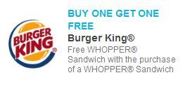 Burger King B1G1