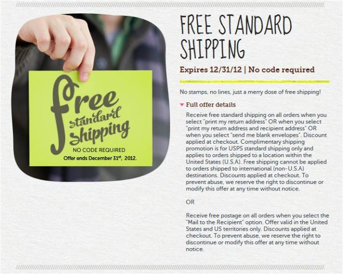 Cardstore - free shipping - exp. 12.31.12