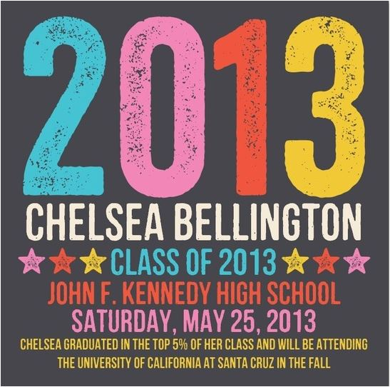 2013 Graduation Announcement