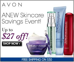 Avon ANEW skincare Savings Event