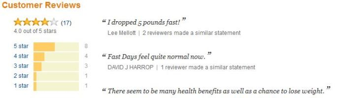 the fast diet cust reviews